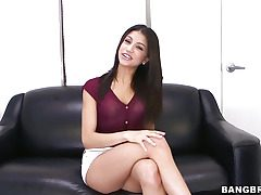Veronica Rodriguez joys herself with a fake penis