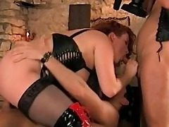 Huge-titted Stepmom Thirsty For Stepson and His Frie