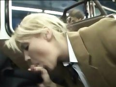 Schoolgirl Makes Stranger Spunk in a Bus!