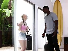 Ginormous Jizz-shotgun Dark-hued Fellow Ravaging Lily Rader