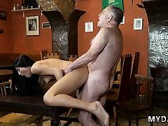 Youthfull blonde assfuck gang-fuck and nubile handjob first time