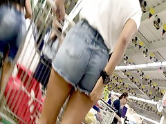 Latin Teen with tight short jeans