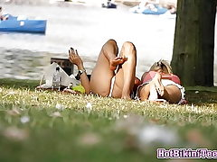 Amateur Hot Swimsuit teenagers Spy Spycam Hidden Web cam In The Park