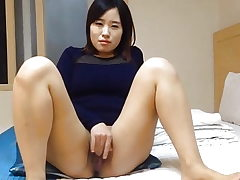 Super-cute Korean wife's dirty masturbation and sex