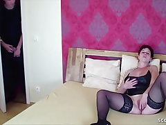 German Red-haired Mom Caught by Step-Son and Seduce to Ravage