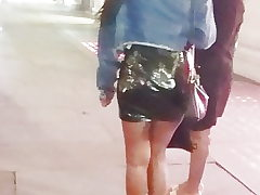 Candid Juicy BubbleButt Spandex Skirt - Fat Donk Babe (TEASE)
