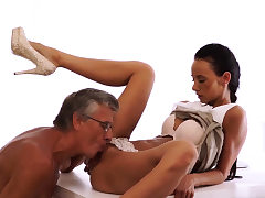 Milf young man Ultimately she's got her manager dick