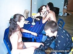 Teens enjoy lovemaking