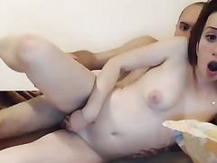 Redhead small titted fledgling fucked on cam