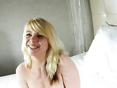 Amazing french blonde rides hard dick on web cam