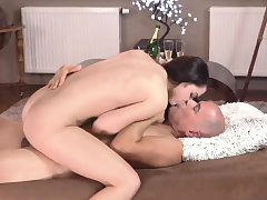 Older nasty dirty medic hd and man cums inwards young pussy