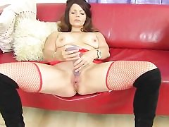 Warm mommy really needs a supreme fuck so she's wanking with a dildo