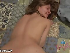 Silver-Light-Haired girl, Riley Starlet is gargling her best acquaintance's man rod and hoping a facial pop-shot money-shot